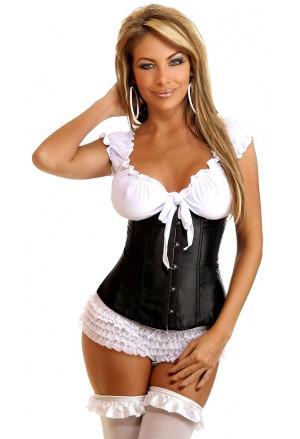 Satin underbust corset SHORT