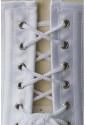 Oceľový saténový korzet pod prsia - biely