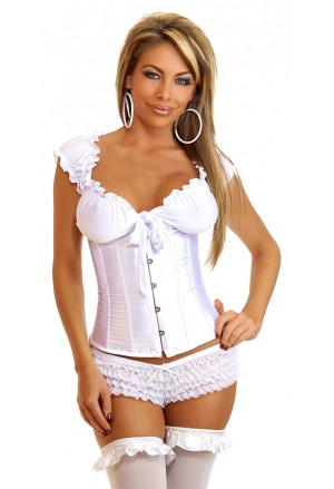 Steel boned satin underbust corset