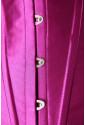 Oceľový saténový korzet - fialový