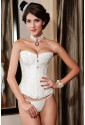 Steel boned embroidered corset