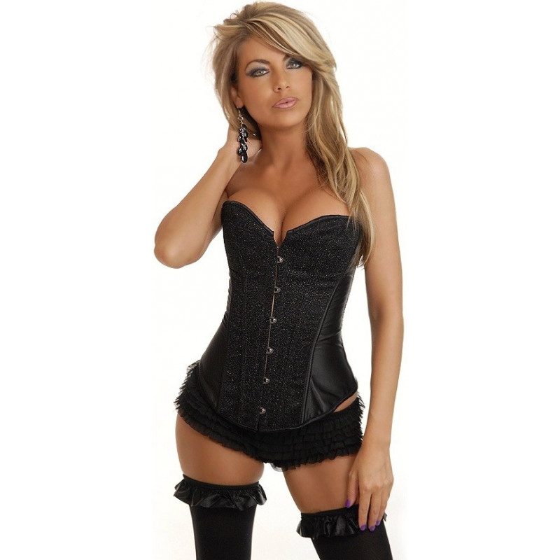 Shop diamond pearls sexy black bustier crop top