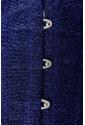 Saténový žiarivý korzet - modrý