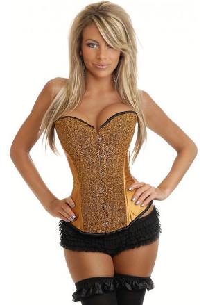 Satin shiny corset - gold