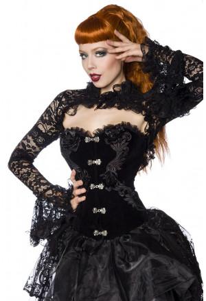 Čierne gotické bolerko z čipky