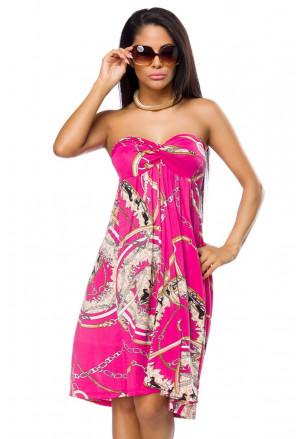 Vkusné ružové letné šaty