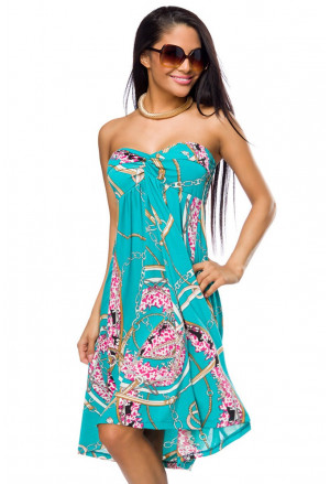 Tasteful blue summer dress