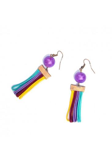 Women colored earrings Rainbow in Mallorca