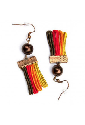 Women colored earrings Rainbow in Africa