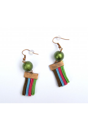Colorful summer earrings Rainbow in Rainforest