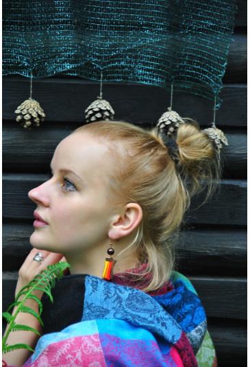 Women colored earrings Rainbow in Africa