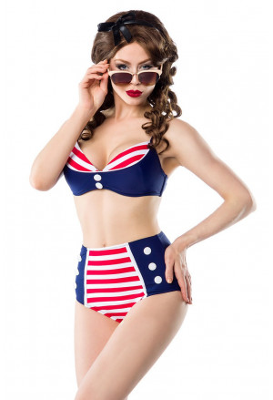 Fascinating retro vintage swimsuit CAPTAIN