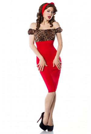 Skvelé vintage šaty s leopardím vzorom
