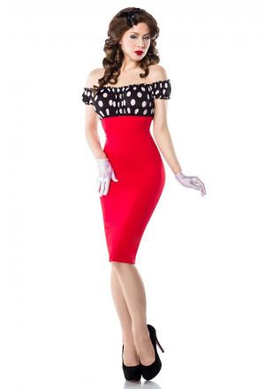 Skvelé vintage šaty s bodkovaným vzorom