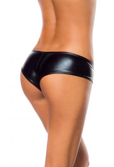 Metallic black panty briefs