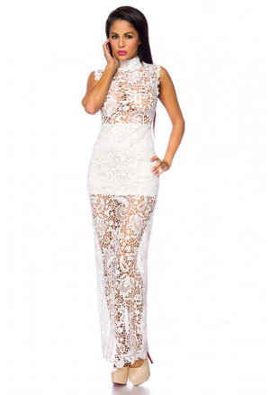 Elegant evening dress with lace