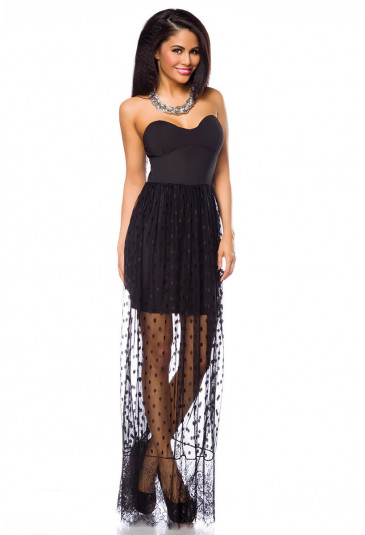 Significant black dress with lace ROCK