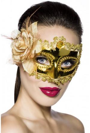 Karnevalová maska - zlatá škraboška