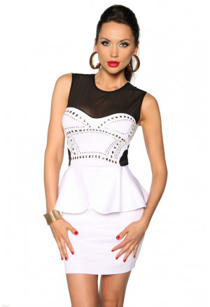 Elegant club peplum dress