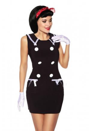 Original black dress in sailor's style