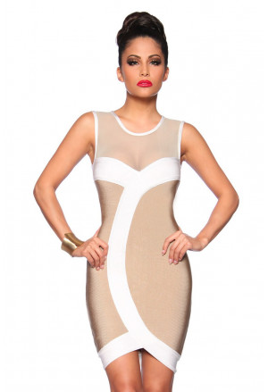 Combined bandage dress a netting