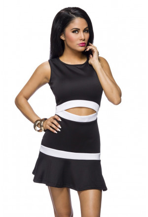 Beautiful summer black and white dress
