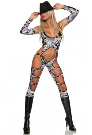 Gogo quality zebra overal with cuffs