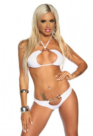 Beautiful white gogo bikini