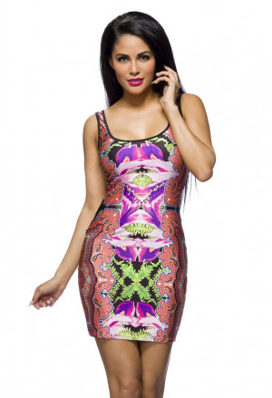 Fresh summer party dress PSYCHEDELIC