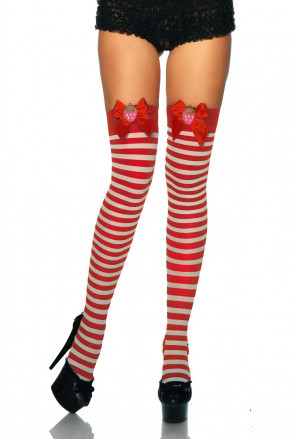 Playful red knee socks STRAWBERRY