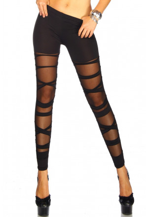 Mesh black leggings