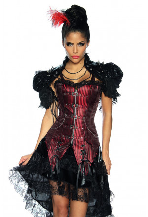 Unique punk brocade corset