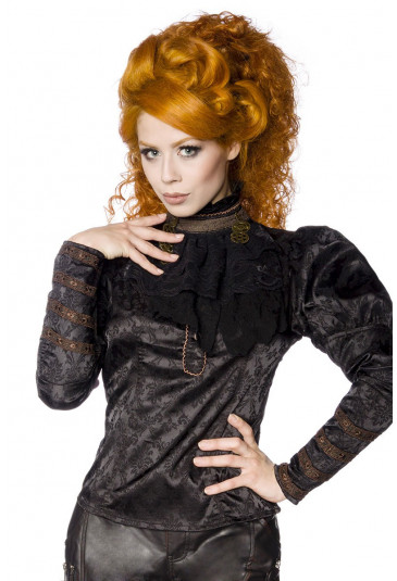 Unusual steampunk blouse with a pattern