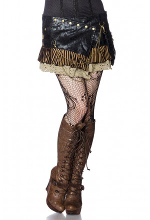 Steampunk mini-skirt with a bag