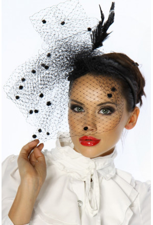 High quality black fascinator