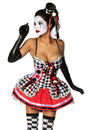 The sensational Harlequin costume with ruffles