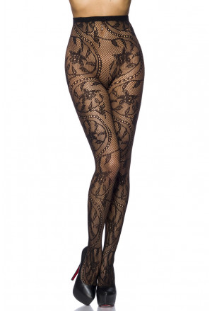 High quality floral fishnet pantyhose