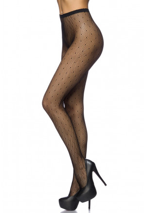 Women's polka high waist pantyhose