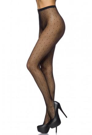 Women's polka high waist pantyhose