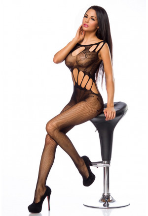 Black bodystockings with seductive cut out