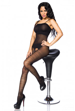 Black full body bodystockings lingerie