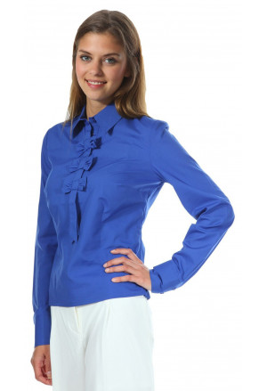 Womens blue shirt with tie NIFE k03