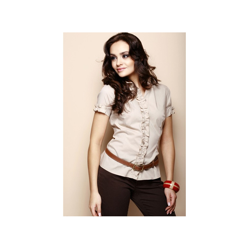 b6eab790f8ec Beige short sleeve shirt - SELECTAFASHION.COM