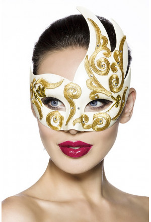 Beautiful mask with gold pattern