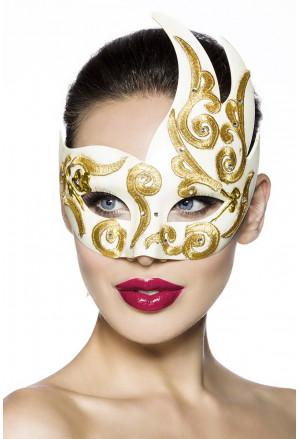 Prekrásna maska so zlatým vzorom