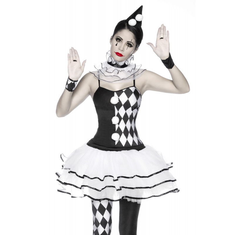 4ca69c0121b9 Jedinečný bielo-čierny harlekýn kostým - SELECTAFASHION.COM