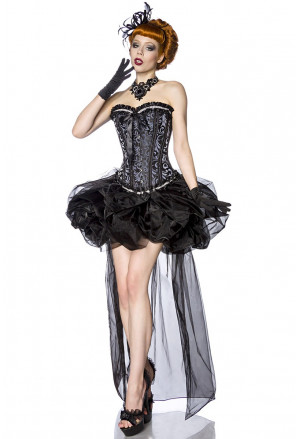 Black balloon skirt of tulle