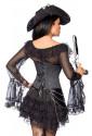 Graceful black pirate dress / blouse