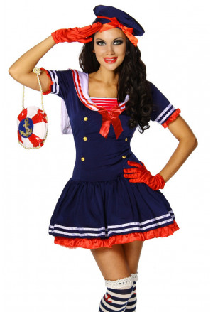 Beautiful women Sailor's costume