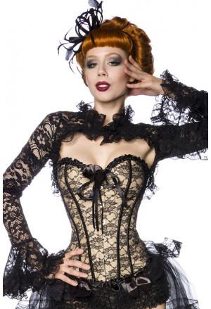 Brocade corset with flowers
